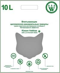 AHVOLAN MAATILA  Kissan Hiekkaa / Хутор Ахвола впитывающий бумажный Бактерицидный наполнитель для котят и кошек Бактерицидный БИРЮЗОВЫЙ