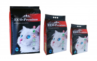 ECO-PREMIUM BLUE CAT LITTER / ЭКО-ПРЕМИУМ ДРЕВЕСНЫЙ НАПОЛНИТЕЛЬ ДЛЯ КОШАЧЬЕГО ТУАЛЕТА КОМКУЮЩИЙСЯ Голубой)