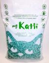 MY KATTI / МАЙ КАТТИ впитывающий бумажный наполнитель для кошек Двойной Бактерицидный Зеленый С запахом скошенной травы