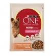 Purina One паучи для взрослых собак малых пород с курицей, коричневым рисом и томатами в подливе, One My Dogis Foodlover